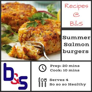 Seriously healthy Salmon Burgers